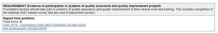 This image shows the national training survey being uploaded as a QI form
