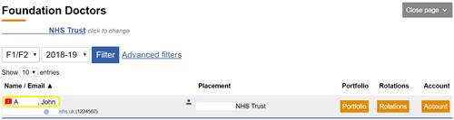 This image shows the concerns icon against a foundation doctor on the foundation doctor search page